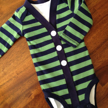 24-Month Baby Cardigan One Piece, Striped Infant Cardigan, Baby Boy, Child Cardigan, Long Sleeve Cardigan, Baby Shower Gift