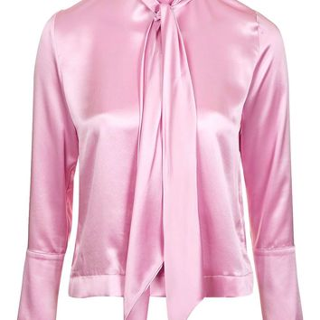 Satin Tie Blouse by Boutique | Topshop