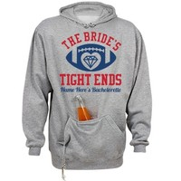 Bride's Tight Ends Hoodie: Mom Means Business