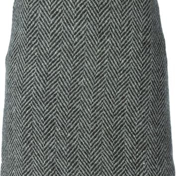 Burberry herringbone mini skirt