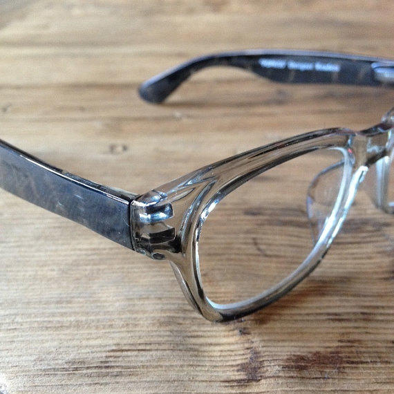 Gray Frame Reading Glasses : Designer wayfarer reading glasses or from LookEyewear on Etsy