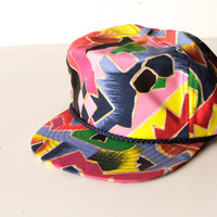 90s COLOR BLOCK kriss kross wild urban patch hat snap back cap