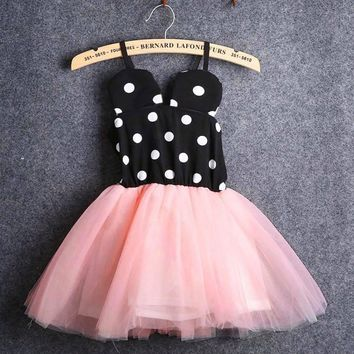 Baby Girls Minnie Mouse tutu dress with polka dots