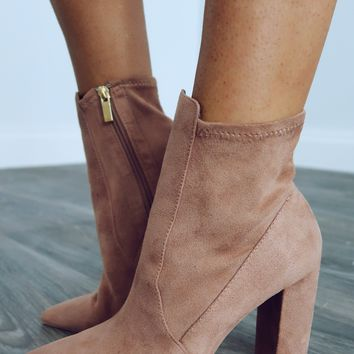 Send Me A Sign Booties: Dusty Taupe