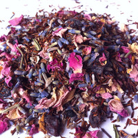 LAVENDER BLISS TEA (Organic Loose Leaf Fragrant, Sweet and Relaxing Rooibos and Herbal Tea Blend)