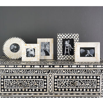 Bone Photo Frame - Moroccan-Inspired | Decorative Accents