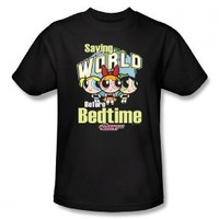 The Powerpuff Girls Saving The World Before Bedtime Cartoon Network Adult Tee