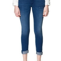 JEANS WITH DETAILING ON THE HEM - Jeans - Woman | ZARA United States