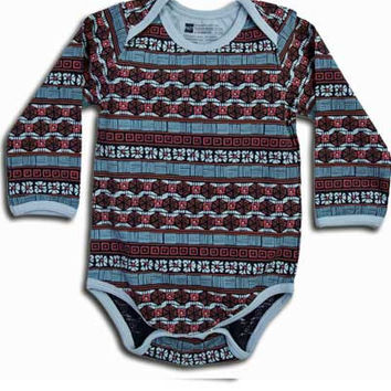Organic Snap Body Suit, Long Sleeve- Sonora