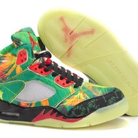 "Air Jordan 5  ""Maple Leaves"" Basketball Sneaker"