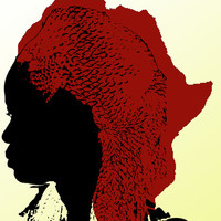 African Queen Art Print by Jazzieo Textile