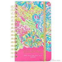 Lilly Pulitzer 17 Month Medium Agenda Lovers Coral