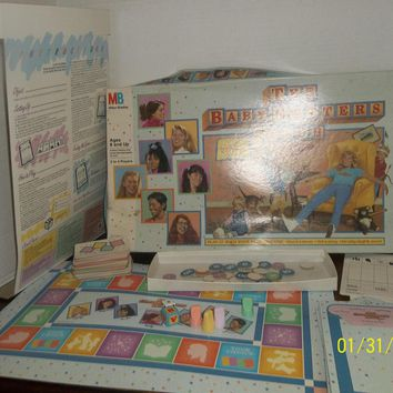 vintage 1989 milton bradley the baby sitters club board game complete