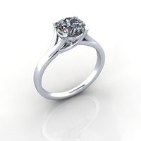 Forever Brilliant Moissanite Engagement Ring Classic Solitaire 1.50 CTW