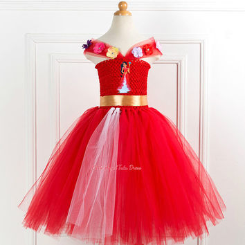 Princess Elena of Avalor Tutu Dress. Elena of Avalor Tutu Dress. Handmade Tutu Dress. Birthday Party Dress. Handmade Red Tutu.