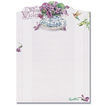 Sweet Violets Die Cut Sticky Notes Pad