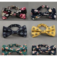 Men's Floral Collection Bow Ties - 19 Colors & Styles