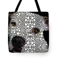 "Stone Rock'd Dog by Sharon Cummings Tote Bag 18"" x 18"""