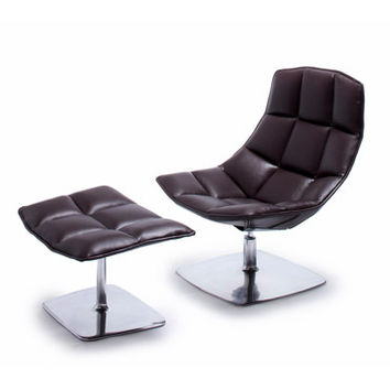 Jehs+Laub Pedestal Base Lounge - Leather