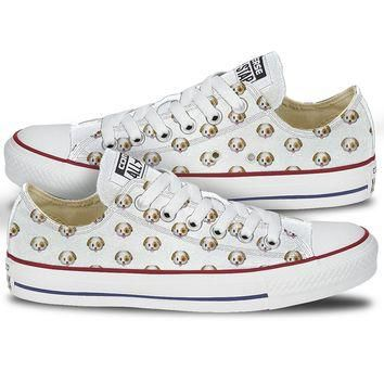 Dog Emoji Converse Chuck Low Tops