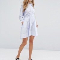 French Connection Smithson Stripe Cotton Dress at asos.com