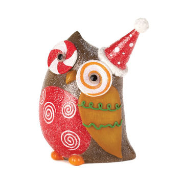 SPARKLY HOLIDAY OWL DƒCOR