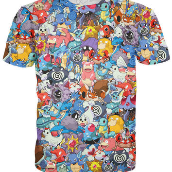 Original Water Pokemon Collage T-Shirt