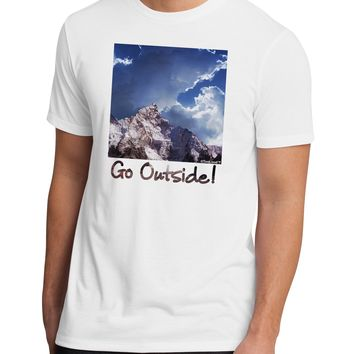Go Outside Mountain Men's Sublimate Tee by TooLoud