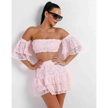VERNA Two Piece Lace Set