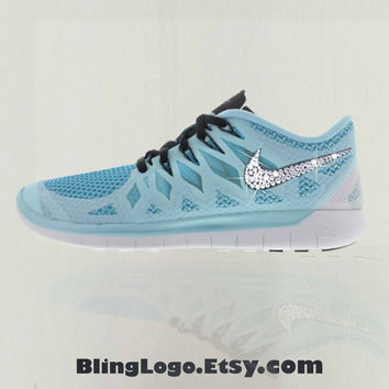 Nike Free 5.0  Shoes With Swarovski Crysral Rhinestones - Bling Nikes, Bling Shoes, Blinged Out Nikes