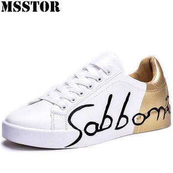 MSSTOR Lovers Skateboarding Shoes Man Brand Flat With White Women Sport Shoes Summer Breathable Woman Walking Mens Sneakers