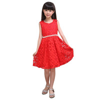 Lovely Kids Baby Girls Sleeveless Lace Floral Dacing Party Wedding Tutu Dress