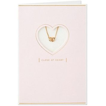 Close at Heart Mother's Day Card With Rings Necklace