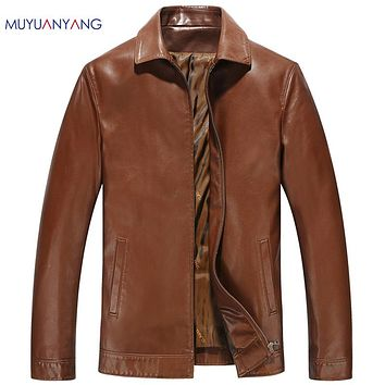 Men's Leather Jackets Casual Male Motorcycle Leather Coats Faux Leather Clothing Overcoats