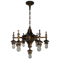 1STDIBS.COM - Vancouver Architectural Antiques LTD - Cassidy of NYC - 7 Light Gothic Arts  Crafts Chandelier
