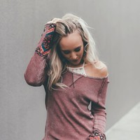 Vail Button Cuff Thermal Top
