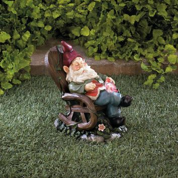 Gnome | Solar Red Bird Rocking Chair