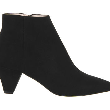 Office Luxe 80's Ankle Boots Black Suede - Ankle Boots