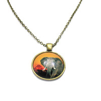 Elephant Necklace, Elephant Charm, Elephant Jewelry, Silver Elephant Necklace, African Elephant Charm, Pachyderm Charm, Asian Elephant Charm