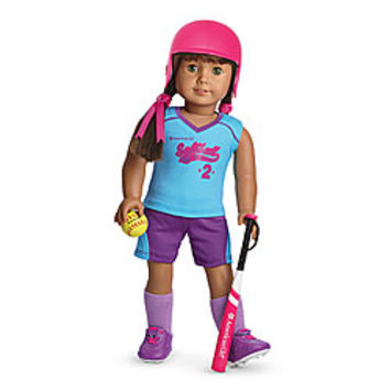 American Girl® Clothing: Softball Set for Dolls + Charm