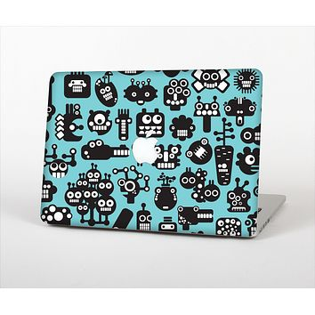 The Teal & Black Toon Robots Skin Set for the Apple MacBook Air 13""