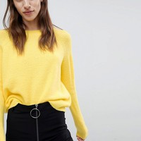 ASOS Jumper In Fluffy Yarn With Crew Neck at asos.com