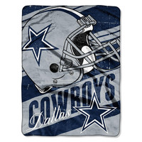 Dallas Cowboys NFL Micro Raschel Blanket (Deep Slant Series) (46in x 60in)