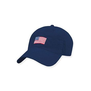 American Flag Needlepoint Performance Hat by Smathers & Branson
