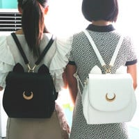 Sailor Moon Luna 3 ways Backpack Bag sold by Harajuku fashion