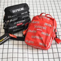 Supreme New reflective more letter shoulder diagonal package couple bag