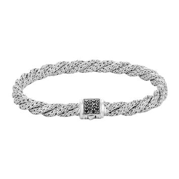 Classic Chain Extra-Small Silver Lava Bracelet, Size M - John Hardy