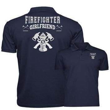 Firefighter Girlfriend Reflective Embroidery Technology Polo Shirt
