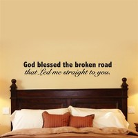 Wall Sticker Art | Katazoom Wall Decals for Home and Office . God Blessed Broken Road Wall Decal