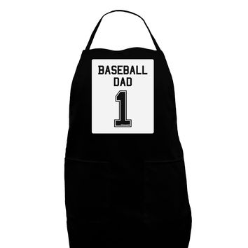 Baseball Dad Jersey Panel Dark Adult Apron by TooLoud